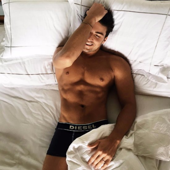 Sexy Shirtless Guy in Bed