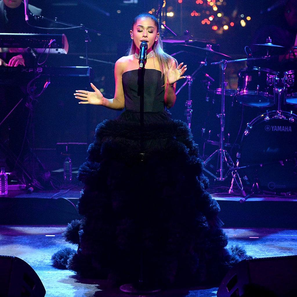 Ariana grande 39 s dress at the time 100 gala popsugar for Ariana grande wedding dress
