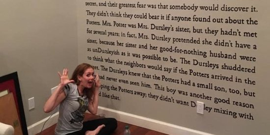 This Harry Potter Superfan Painted The First Page Of The Series On Her Wall