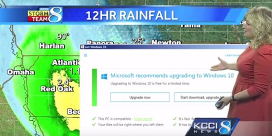 Windows 10 Update Interrupts Weather Report Just As It Was Getting Good