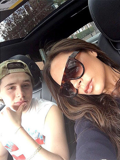 It's Victoria Beckham's Turn for a Spin in the Car with Son Brooklyn Behind the Wheel: 'Do I Look Nervous?'