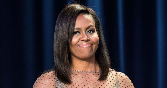 Michelle Obama Channels the '70s in Sheer Dress With Caped Sleeves at White House Correspondents' Dinner 2016