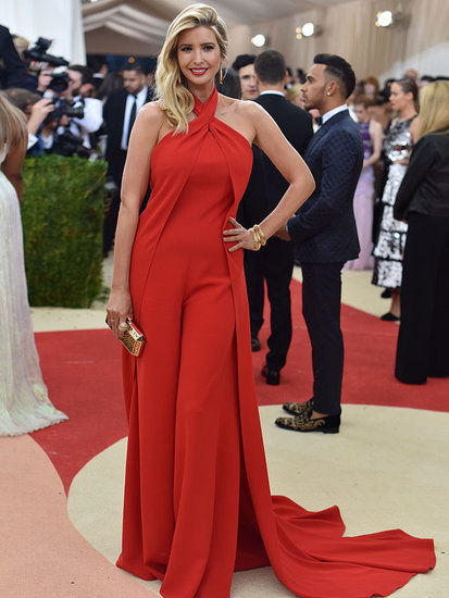 Ivanka Trump Turns Met Gala Red Hot in Flowing Red Jumpsuit Just Weeks After Giving Birth