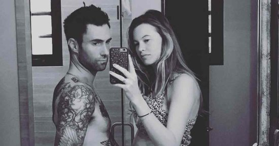 Adam Levine Thinks He's Pregnant Too