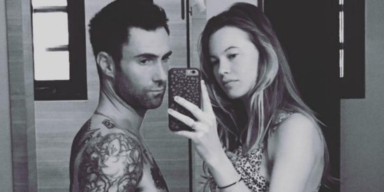 Adam Levine Proudly Displays His 'Baby Bump' Alongside Wife In Cute Instagram Photo