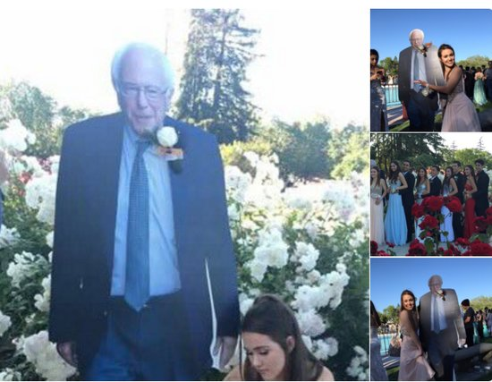 This Teen Went To Prom With A Cardboard Cutout Of Bernie Sanders