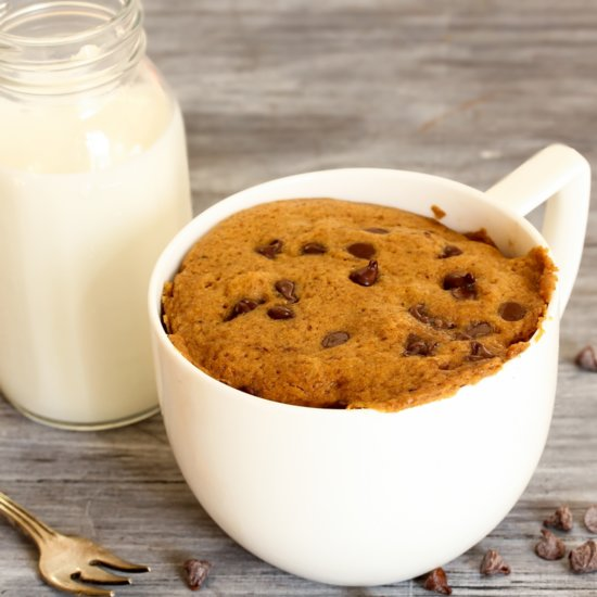 The Perfect Mug Chocolate Chip Cookie Just For One