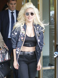 Lady Gaga Flashes Her Toned