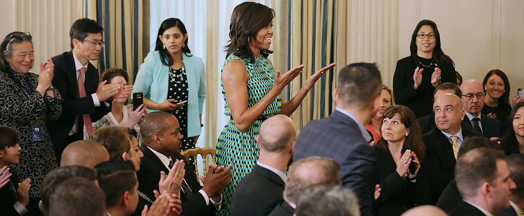 Michelle Obama Wears the 1 Spring Dress You Need to Work a Room