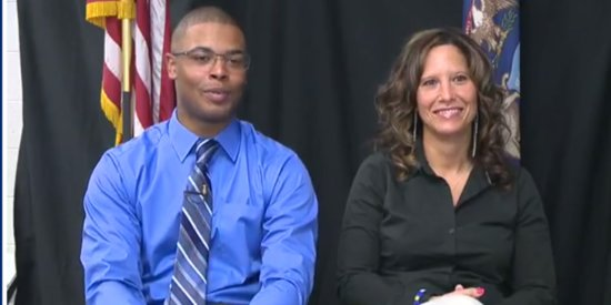 Dynamic Mother-Son Duo Join Police Force Together In Flint, Michigan