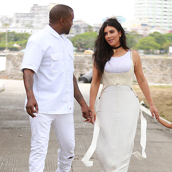 Kim Kardashian and Kanye West Wearing White in Cuba 2016