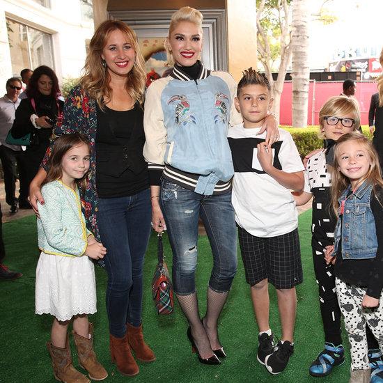 Gwen Stefani and Blake Shelton at Angry Birds LA Premiere