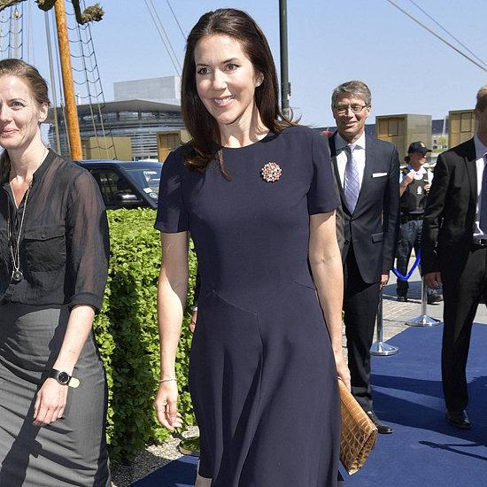 Princess Mary Navy Blue Dress at Idaho Forum May 2016