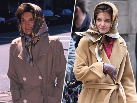 Katie Holmes Bears an Uncanny Resemblance to Jackie Kennedy on Set of The Kennedys: After Camelot