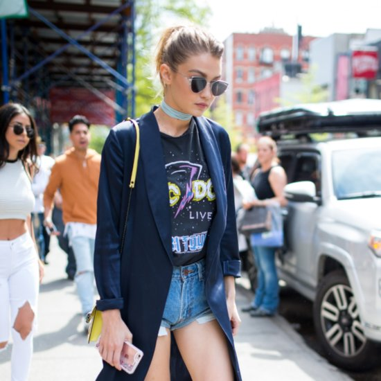 Gigi Hadid Wearing Denim Shorts May 2016