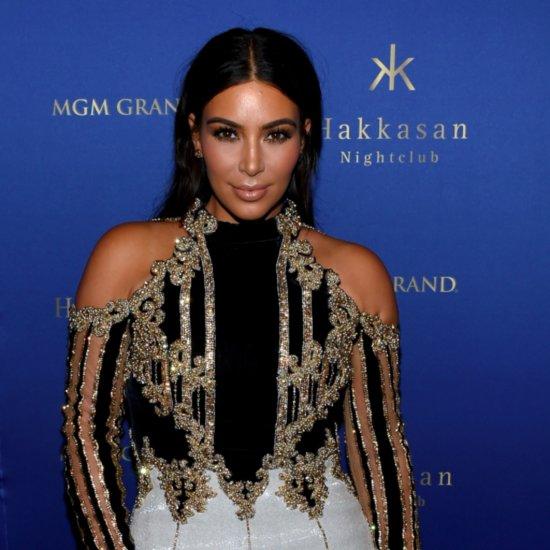 Kim Kardashian Wears Kimoji Nail Art