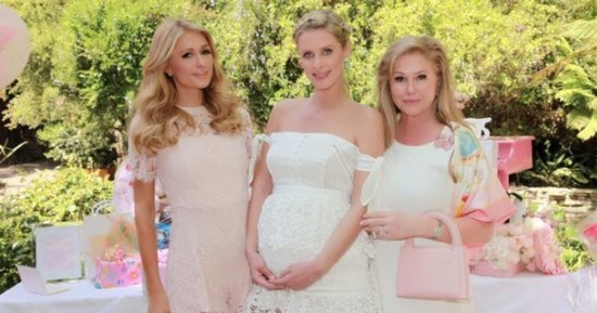 Nicky and Paris Hilton Share Gorgeous Photos from Baby Shower