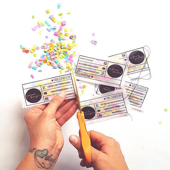 DIY Confetti Business Cards