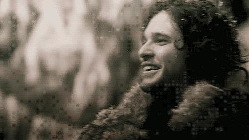 Jon Snow Smiling on Game of Thrones