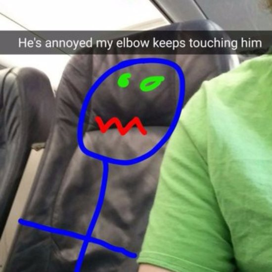 Funny Airplane Snapchat