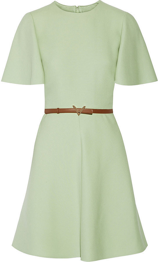 Valentino Belted Wool and Silk-Blend Mini Dress ($2,990)