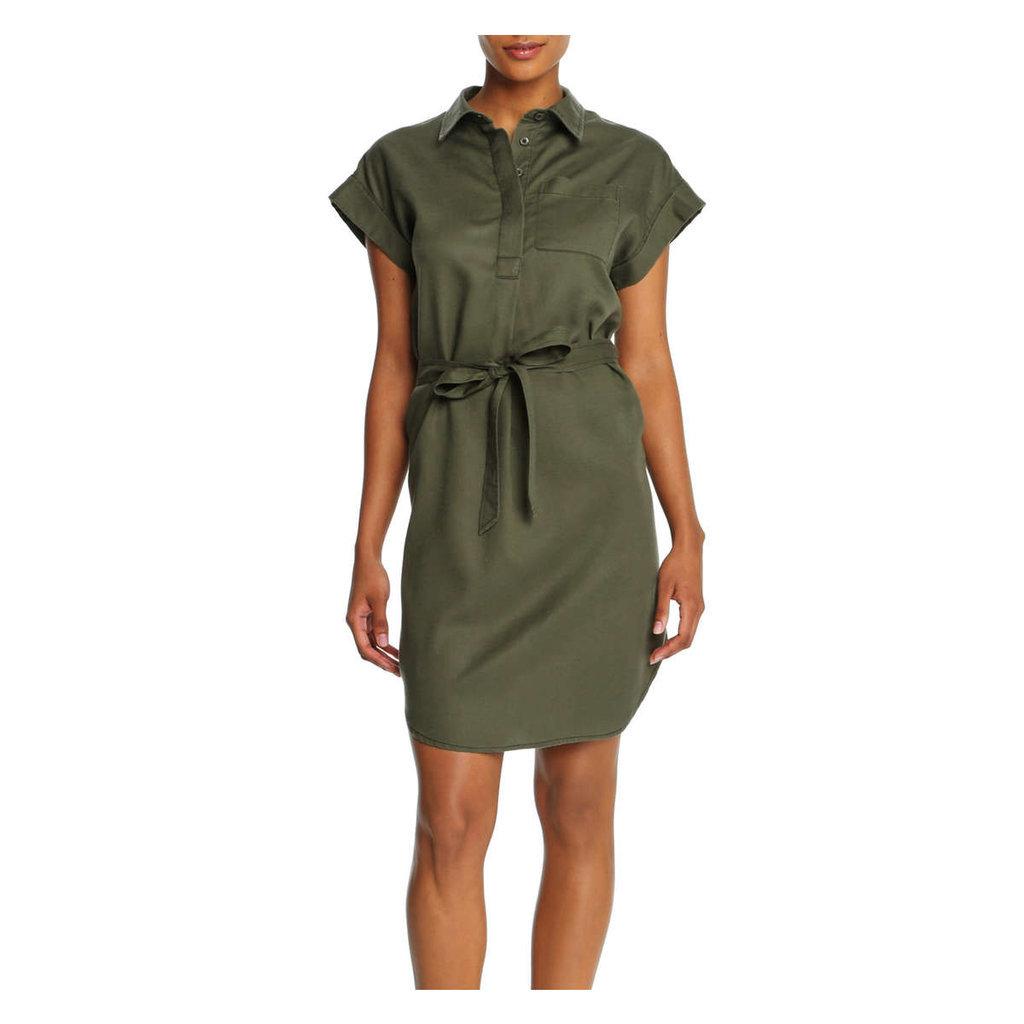 Joe Fresh Khaki Shirt Dress - Khaki Green ($39)
