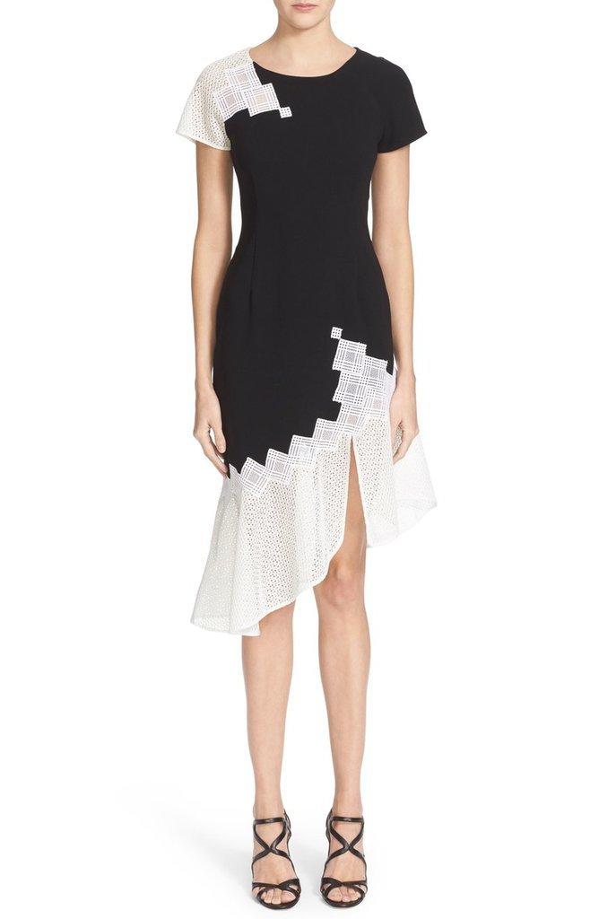 Jonathan Simkhai Diamond Mesh T-Shirt Dress ($695)