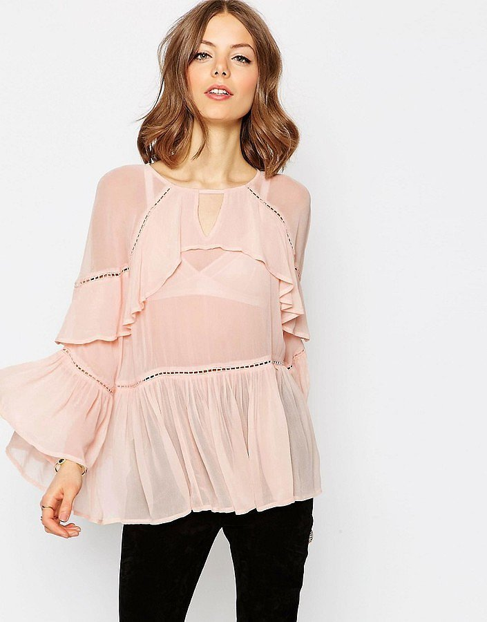Asos Tiered Ruffled Blouse ($59)
