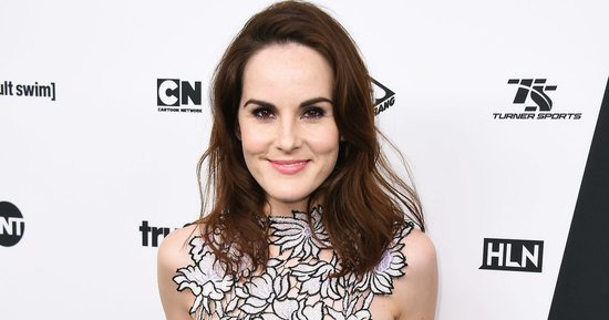Michelle Dockery Ditches Her 'Downton' Threads in Favor of a Daring Lace Crop Top