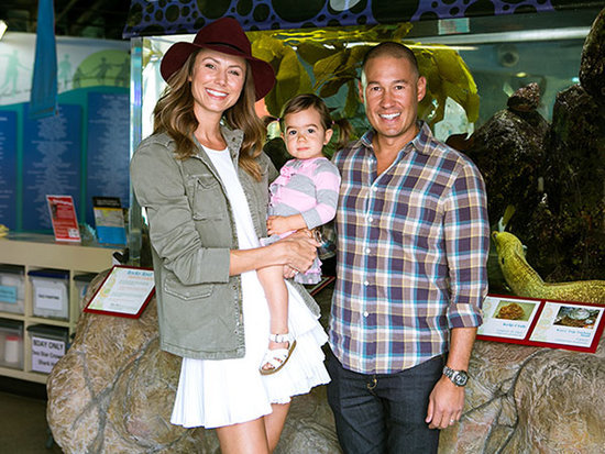 Stacy Keibler Visits the Aquarium with Daughter Ava - and They Pet a Shark!