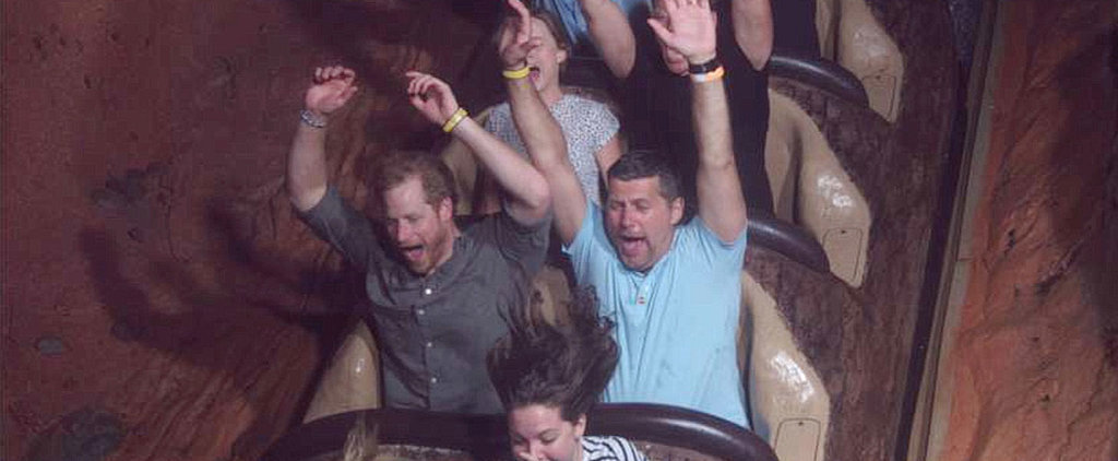 Prince Harry Is Like an Excited Little Kid While Riding Splash Mountain in Disney World