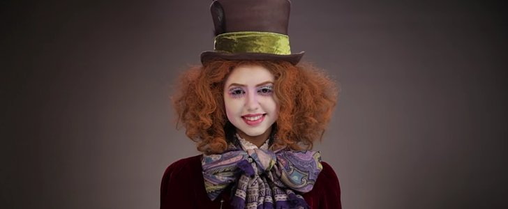 Watch 1 Woman Transform Into 5 Alice Through the Looking Glass Characters