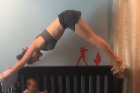 Watch This Fit Mom's 'Crib Workout' and Try Not to Freak Out