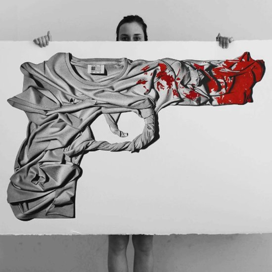 CJ Hendry End Gun Violence Drawing Over New York