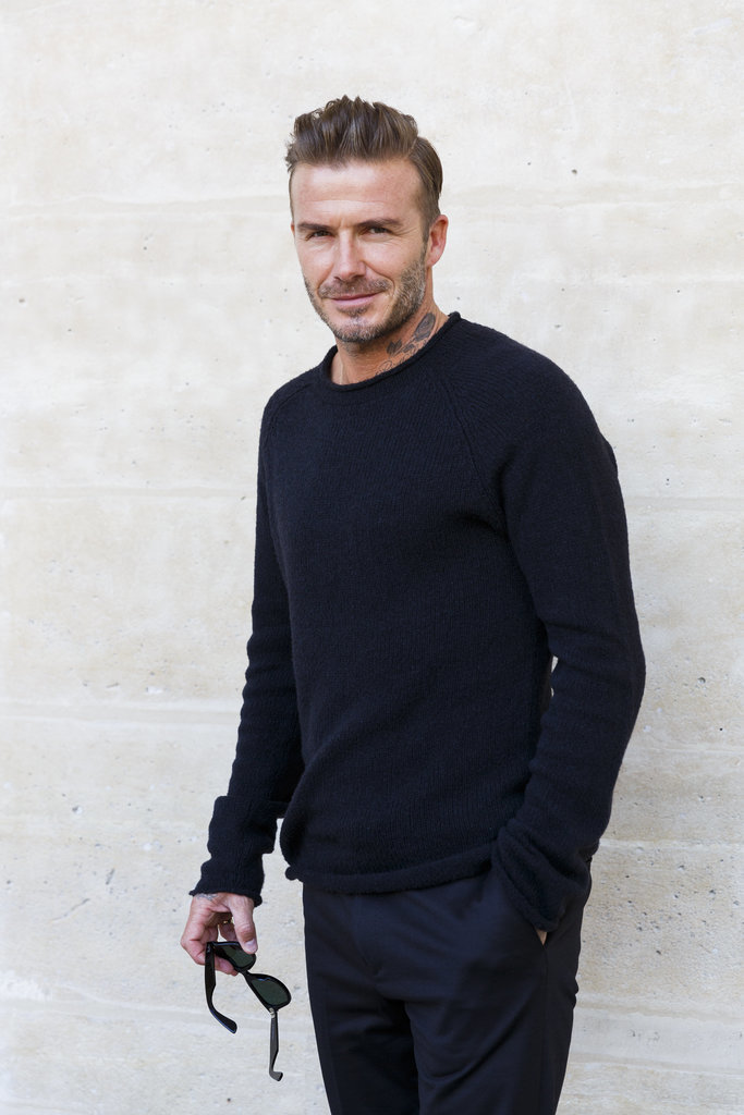 David Beckham At Paris Fashion Week 2016 Popsugar Celebrity