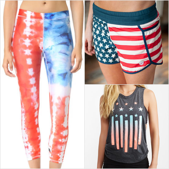 Red, White, and Blue Workout Clothes
