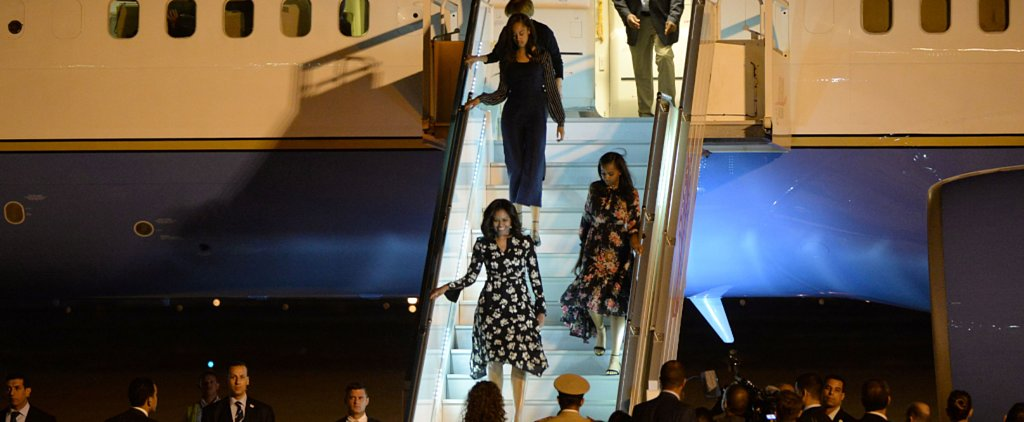 Malia and Sasha Obama Just Proved You're Never Too Old to Coordinate With Your Mom