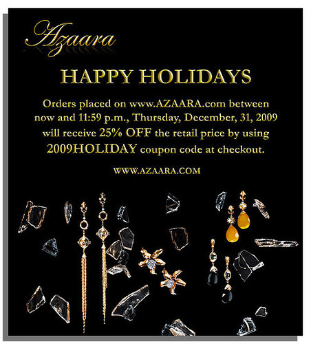 Just in time for the Holidays.....sale at Azaara!