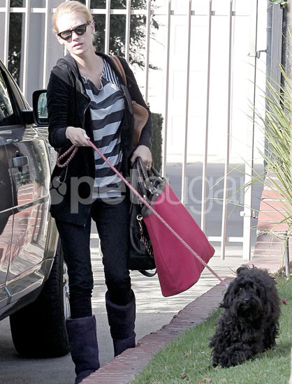January Jones and Her Pooch Take a Stroll
