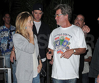 Slide Photo of Kate Hudson and Kurt Russell Leaving Dinner After Game