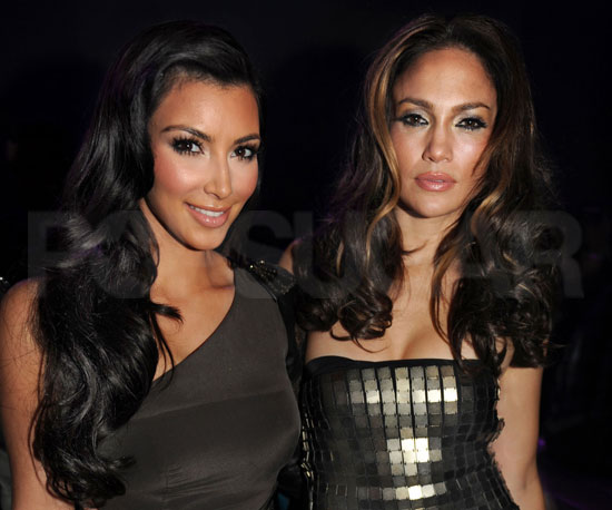 Photo of Jennifer Lopez & her friend tv-personality  Kim Kardashian - Longtime