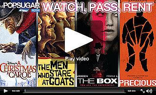 Dev, Freida, and Emily Red Carpet; Weekend Movie Reviews of Precious, Xmas Carol, the Box, and Goats!