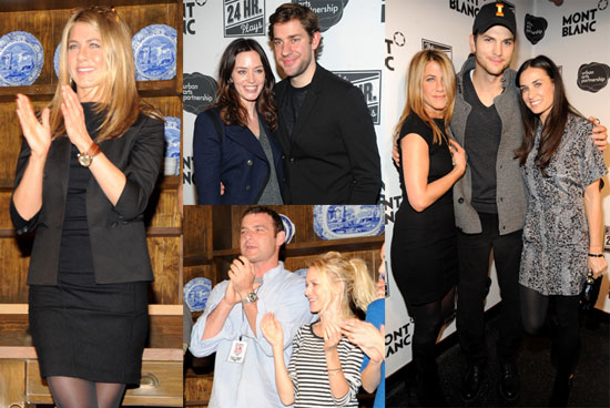 Photos of Jennifer Aniston, Demi Moore, Liev Schreiber, Naomi Watts, And Ashton Kutcher Doing 24 Hour Plays in NYC 2009-11-10 07:00:00