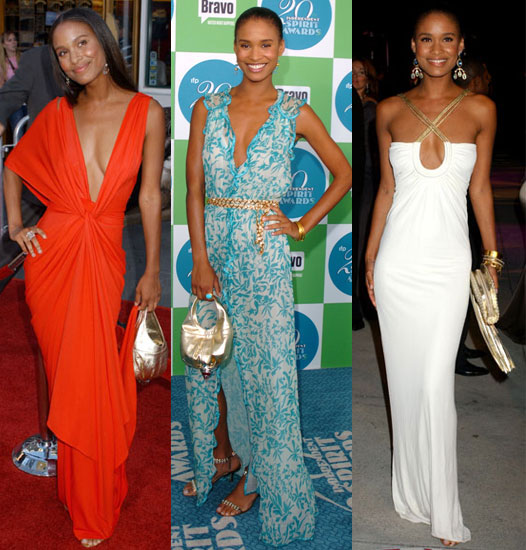 Slideshow of Joy Bryant's Maxi Dresses