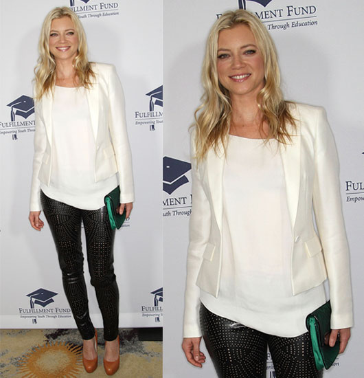 Amy Smart Attends the Fulfillment Fund's Annual STARS 2009 Benefit Gala Wearing Stella McCartney Leather Leggings