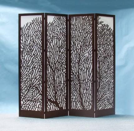 Laser cut wood screens