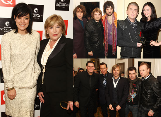 Photos of Amy Winehouse and Lily Allen at 2009 Q Awards, Full Winners List Q Awards 2009
