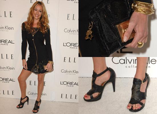 Cat Deeley in Zip Front Temperley London Dress at Elle Women in Hollywood Awards