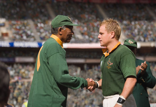 Review of Matt Damon and Morgan Freeman in Clint Eastwood's Invictus 2009-12-11 05:00:00
