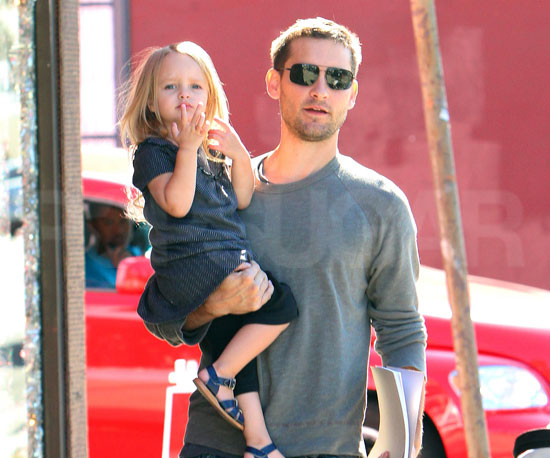 Slide Photo of Tobey Maguire and Ruby Out in LA